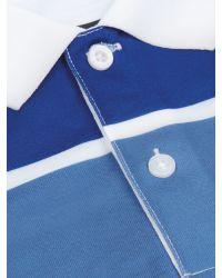 Wolsey | Blue Three Colour Stripe Polo for Men | Lyst