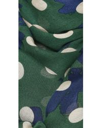 Marc By Marc Jacobs - Green Dotty Flora Scarf - Granite Multi - Lyst
