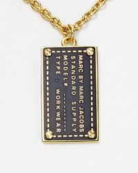 Marc By Marc Jacobs - Metallic Standard Supply Dog Tag Pendant Necklace 18 - Lyst