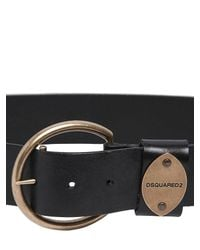 DSquared² | Black Leather Belt | Lyst