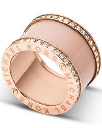 Michael Kors | Pink Mkj4332791 Ladies Ring (size 8) | Lyst