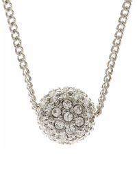 Givenchy | Metallic Silvertone Crystal Fireball Pendant | Lyst