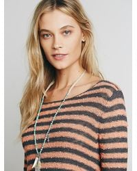 Free People - Gray Womens Counting Stripes Swing Tunic - Lyst