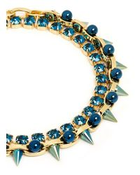 Joomi Lim - Blue 'dynamic Duo' Spike Sphere Necklace - Lyst