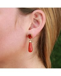 Katherine Jetter - Yellow Seasons Mexican Fire Opal Earrings - Lyst