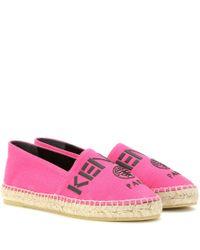 KENZO - Pink Canvas Espadrilles - Lyst