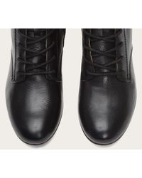 Frye | Black Jillian Lace-Up Leather Boots | Lyst