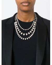 Lanvin - Metallic Kristen Pearl Necklace - Lyst