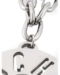 Moschino - Metallic Logo Pendant Necklace - Lyst
