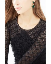 BCBGMAXAZRIA | Green Pave Stone Earrings | Lyst
