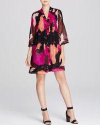 Diane von Furstenberg | Black Layla Abstract Print Silk Dress | Lyst