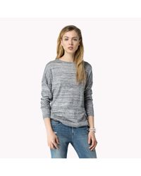 Tommy Hilfiger | Gray Cotton Oversized Sweater | Lyst