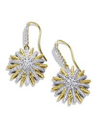 David Yurman | Yellow Starburst Drop Earrings With Diamonds | Lyst