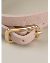 McQ - Pink Razor Blade Double Bracelet - Lyst