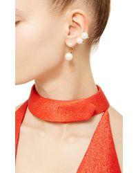 Delfina Delettrez - Metallic Gold Multi Pearl Earring - Lyst