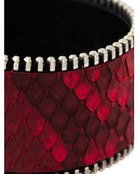 Aech Cheli | Red 'zip' Bracelet for Men | Lyst
