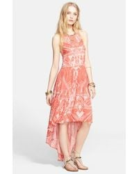 Free People | Pink 'La Mar' Print Dress | Lyst