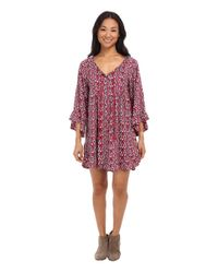 Roxy - Purple Blackbird Dress - Lyst