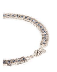 Philippe Audibert | Blue 'lina' Crystal Milgrain Choker Necklace | Lyst