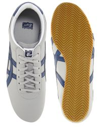 Onitsuka Tiger | Gray Tai Chi Leather Plimsolls for Men | Lyst