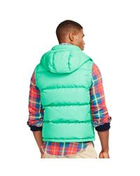 Polo Ralph Lauren - Green Elmwood Down Vest for Men - Lyst