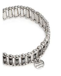 Philippe Audibert - Metallic 'Titia' Metal Bead Rhinestone Elastic Bracelet - Lyst