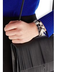 McQ | Black Swallow Leather Wrap Bracelet | Lyst