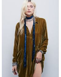 Free People | Blue Fp One Bianca Sequin Skinny Scarf | Lyst