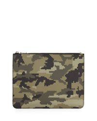 Givenchy - Green Camo-print Zip Pouch - Lyst