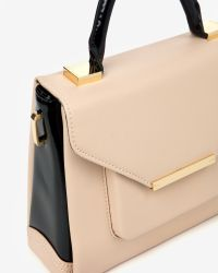 Ted Baker - Natural Patent Crosshatch Lady Bag - Lyst