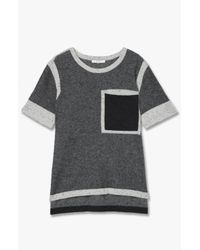 Derek Lam | Gray One Pocket Cashmere Tee | Lyst