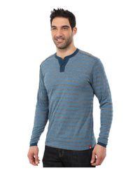 Agave - Blue Long Sleeve Henley Stripe for Men - Lyst