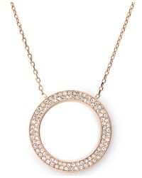 Michael Kors - Pink Brilliance Rose Gold Pendant Necklace - Lyst