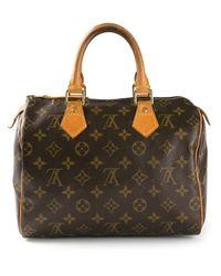Louis Vuitton | Brown Speedy 25 Monogrammed Bag | Lyst