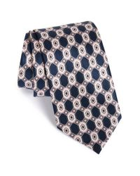 Brioni | Blue Medallion Silk Tie for Men | Lyst
