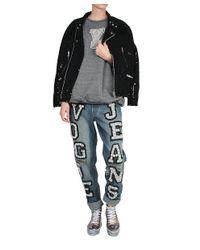 Ashish - Black Sequined Cotton Biker Jacket - Lyst