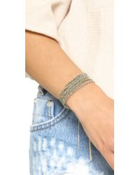 Sogoli - Metallic Braided Multi Purpose Wrap - Silver/silver - Lyst