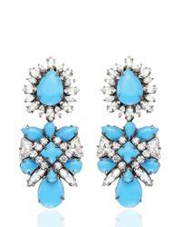 Shourouk   Blue Blondi Brandeis Earrings   Lyst