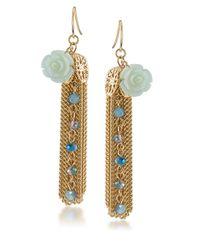 Carolee | Rio Radiance Blue Teardrop Earrings | Lyst