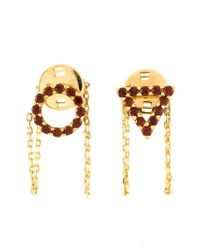 Eshvi - Metallic 'january' Earrings - Lyst
