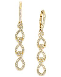 Danori | Metallic Gold-tone Crystal Pave Linear Earrings | Lyst