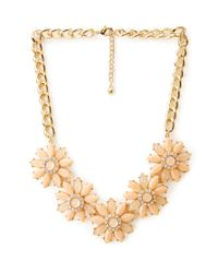 Forever 21 | Orange Fancy Floral Bib Necklace | Lyst