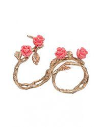 Bernard Delettrez | Metallic Two Finger Rose Ring | Lyst