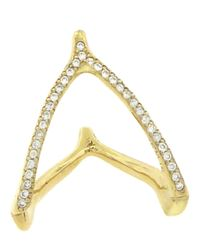 Jennifer Meyer - Metallic Wishbone Ring - Lyst