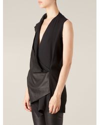 Ilaria Nistri - Black Draped Top - Lyst