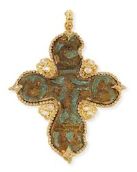 Armenta | Metallic Sueño Cross Enhancer With Diamonds | Lyst