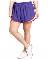 Nike | Purple Plus Size Tempo Dri-fit Track Shorts | Lyst