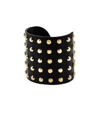 Michael Kors - Astor Gold-tone And Black-tone Studded Cuff - Lyst
