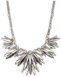 Givenchy | Metallic Cluster Hematite & Crystal Accent Necklace | Lyst