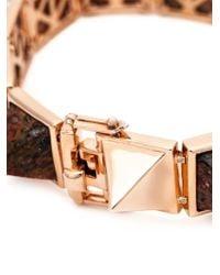 Eddie Borgo - Pink Gemstone Pyramid Bracelet - Lyst